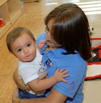 Teacher and child at Educare of Miami-Dade